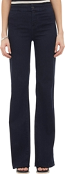 J Brand Tailored High Rise Flared Jeans Blue