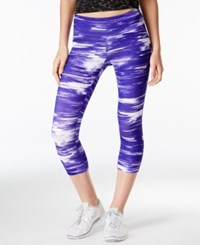 Ideology Printed Cropped Leggings Only At Macy's