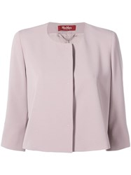 Max Mara Cropped Fitted Jacket Pink
