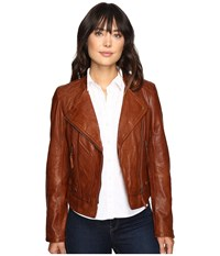 Stetson Motto Style Leather Jacket Brown Women's Coat