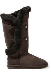 Australia Luxe Collective Nordic Shearling Boots Dark Brown