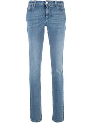 Givenchy Star Patch Skinny Jeans Women Cotton Polyester Spandex Elastane 36 Blue