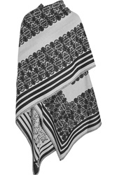 Alexander Mcqueen Jacquard Knit Wool And Cashmere Wrap