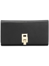Michael Kors Fold Over Top Wallet Black