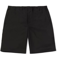 Acne Studios Ari Wool And Mohair Blend Bermuda Shorts Black