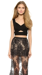 Mason By Michelle Mason Bandage Crop Top Black