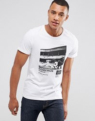 Casual Friday T Shirt With Photo Print White