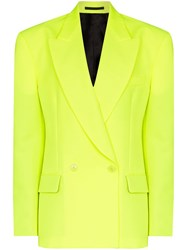 Vetements Double Breasted Blazer Yellow