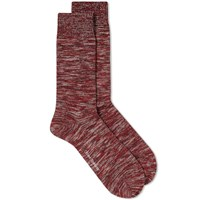 Oliver Spencer Dodd Marl Sock Red