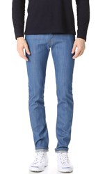 Naked And Famous Super Skinny Guy Rich Blue Stretch Jeans