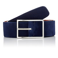 Simonnot Godard Men's Reversible Nubuck Belt Navy