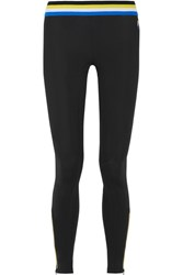 P.E Nation Equaliser Striped Stretch Leggings Black