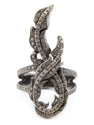 Loree Rodkin Diamond Vine Pinky Ring Metallic