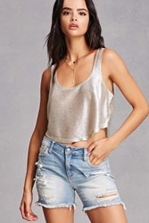 Forever 21 Distressed Mid Rise Shorts Denim