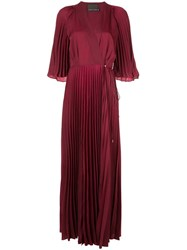 Ginger And Smart Tempera Wrap Gown Red