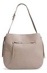 Nordstrom Finley Leather Hobo Grey Grey Taupe