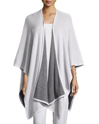 Two Tone Cashmere Shawl Dove Grey Neiman Marcus Cashmere Collection Dove Charcoal