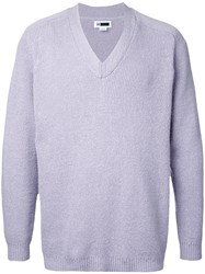 H Beauty And Youth V Neck Jumper Pink Purple