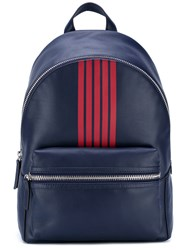 Uri Minkoff 'Paul' Backpack Men Cotton Leather One Size Blue