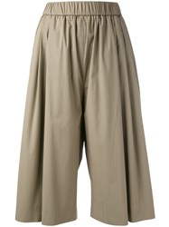 Fabiana Filippi Wide Leg Soft Short Trousers Nude Neutrals