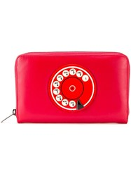 Yazbukey Retro Telephone Motif Purse Red