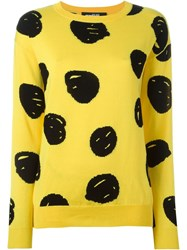 Jeremy Scott Dotted Intarsia Jumper Yellow And Orange