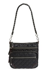 M Z Wallace Mz Crosby Downtown Quilted Nylon Crossbody Black