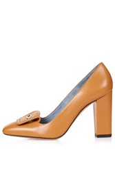 Leather High Heel Courts By Unique Camel