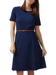 Sugarhill Boutique Belle Fit And Flare Dress Navy