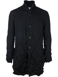 Individual Sentiments Woven Shawl Collar Jacket Black