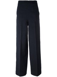 Ports 1961 Pleated Straight Trousers Blue