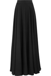 Milly Stretch Silk Crepe De Chine Maxi Skirt Black