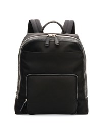 Salvatore Ferragamo Studded Nylon Canvas Backpack Black