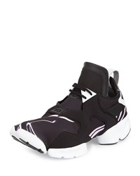 Y 3 Kohna Lightning Print Leather Sneaker Black White Purple Blk Wht Purple