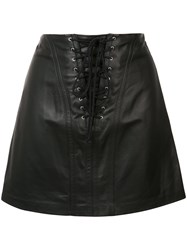 Derek Lam 10 Crosby Laced Mini Skirt Black