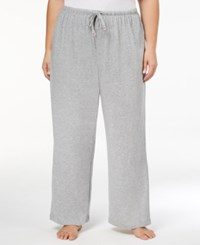 Nautica Plus Size Striped Pajama Pants Heather Grey