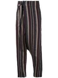 Forme D'expression Wrap Tapered Trousers Multicolour