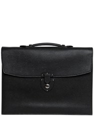 Bertoni 1949 Grained Leather Double Gusset Briefcase