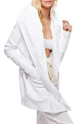 Free People Women's Brentwood Cotton Cardigan White