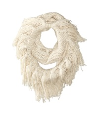 Hat Attack Fringe Double Loop Oatmeal Scarves Brown