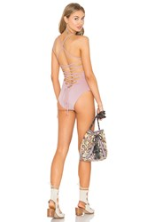 Donna Mizani Lace Up One Piece Rose
