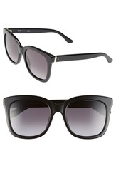 Women's Boss 54Mm Oversize Cat Eye Sunglasses Black