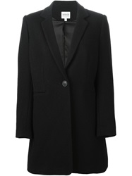 Armani Collezioni Short Single Breasted Coat Black