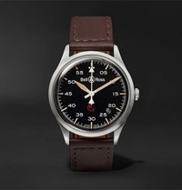 Bell And Ross Br V1 92 Military Automatic 38.5Mm Stainless Steel Leather Watch Black