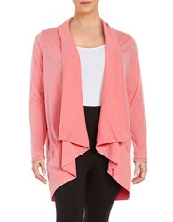 Marc New York Performance Open Front Knit Cardigan Pink