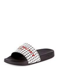 Givenchy Printed Rubber Logo Sandal Slide Black