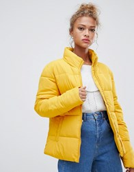 Blend She Dales Tube Quilted Short Jacket Golden Yellow