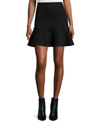 Mcq By Alexander Mcqueen Ponte Flounce Mini Skirt Darkest Black