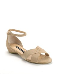 French Connection Vicky Suede Sandals Nude