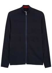Paul Smith Navy Fine Knit Cotton Cardigan